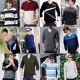 Stock end goods men's sweater wholesale