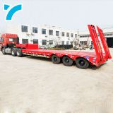 low bed truck semi 3 axles lowboy trailer lowboy semi trailer