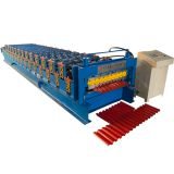 double trapezoidal layer roof tile roll forming machine with high quality