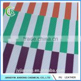 Stripe Pattern Printed PVC Leather