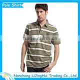 High quality yarm dye polo shirt for man/men striped polo shirt/dry fit polo shirt wholesale