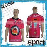 100% Polyester Custom Latest Mens Button Up Polo Shirts Design