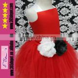 Wholesale Girls Ruffle Tulle Tutu Dress Beautiful Red Wedding Dress