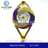 china wholesale watch beautiful crystal watch glass face bangle watches for girls bracelet watch