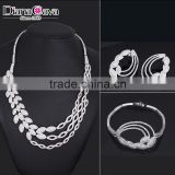 Best Wedding Accessories Cubic Zirconia Full Crystals Gorgeous Bridal Jewelry Set