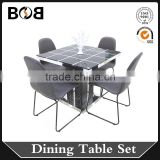 2016 hot sales good quality modern home furniture fashion dining table set                                                                                                         Supplier's Choice