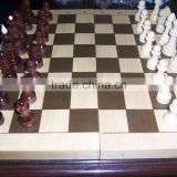 high quality wooden chess box, games/Magnetic chess set
