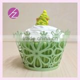 wholesaler Factory supplyt!!! laser cut cupcake wrappers with flowers design DG-157