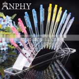 A76 ANPHY 12 Units Pen Holder Rack Plastic Clear Arch Pencil Display Eyebrow Display Rack
