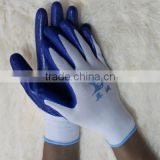 EN388 Nitrile in China working gloves/safety working gloves/used shiping and receiving working gloves