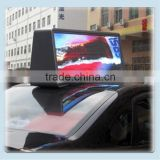 Outdoor Double Side Taxi Roof Video LED Display/Full Color Car Top Sign/3G WIFI Taxi Advertising Light Box                                                                                         Most Popular