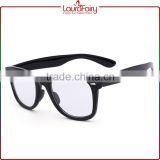 Laura Fairy Brand Names Wholesale Designer Unisex White Lens Black Sunglasses