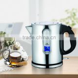 Jialian New Design JL-K867S 1.8L Automatic Shut off Electric Stainless Steel Wide Kettle with Plastic Handle