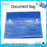 Clear plastic envelop button bag