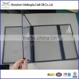 3 Folding PVC Clear Plastic Menu Covers