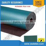 2 layers Color Green Antislip ESD Floor Mat Rhomb & square