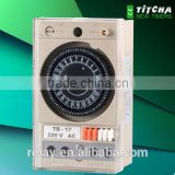 TB17 Mechanical Timer Din Rail / 110 volt 240 volt timer time switch / with battery without battery
