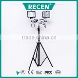 2x500W independently irradiation angle mobile light tower Portable lifter lighting equipment RYFW911