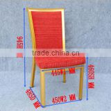 High quality & good design aluminum with red fabric hotel living room imitated wood chair