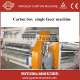 carton box machine price / corruagted b flute single facer machine