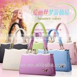 2016 lates Xmas Gift Summer colors PU lady hand bag                                                                         Quality Choice