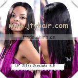 In stock fashion! Jet black Silky Straight, China factory, Brazilian hair Lace Front Wig