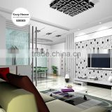 2016 new heavy embossed plastic wallpaper, black and white trendy waves wall covering for study room , deco wall sticker roll