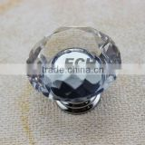 China supplier Zinc alloy crystal glass cabinet knobs