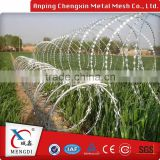 Top Quality With Bottom Price Galvanized Razor Barbed Wire Blade Barbed Wire, Razor Wire For Sale, Fake Razor Wire