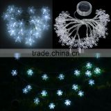20 LED Snowflake Solar Powered String Fairy Light Outdoor Lamp for Christmas Holiday/Party/Home Decoration
