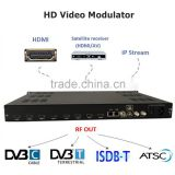 EMI3381 4/8 channel iptv modulator with HDMI to dvbt converter as mirror of IP tv streaming encoder