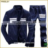 Factory wholesale fashionable polyester 100% men's athletic sports wear new design track suit