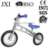 Blue Portable folding e bike treadmill bike for 3 to 6 years old kids
