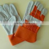 cow split leather gloves, mechanic working gloves, double palm leather gloves,working gloves