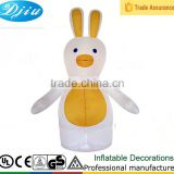 DJ-539 Outdoor Happy Easter day inflatable rabbit with led light yellown ears tag decorations