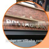 led backlit letter sign Manufacturer of China Mainland ,restaurant light letters,environmental Plastic Sign