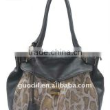 Animal printed fashion ladies handbags with padlock 2012
