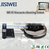 2016 ! wifi+mobilephone APP control ! JISIWEI S+ golden Robot vacuum cleaner with virtual wall design