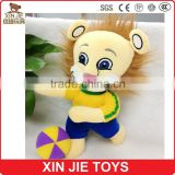 plush mascot toy china factory cute soft lion mascot doll customize stuffed animal mascot toy