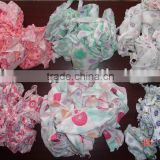 COTTON LIGHT & DARK COLOR PRINTED HOSIERY CLIPS/ TEXTILE WASTE