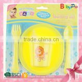 Babypro 2015 Hot Selling Product China Supplier Baby Feeding Bottle With Spoon And Plate Baby Feeding Set