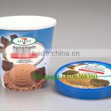 Wholesale customized logo Ice cream Cup with Paper Cover printing                                                                         Quality Choice