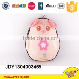 2015 new baby school toy 13 inch Egg shape knapsack cat cartoon packbag toy