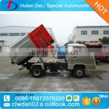 Mini hydraulic lifter truck hook lift garbage truck small roll off garbage truck for sale