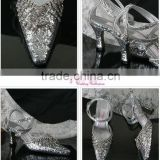 silvery shining WS-028 bridal wedding shose hot sell new arrival