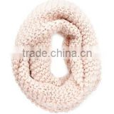 latest design solid color simple and fashion autumn & winter knit Neck warmers scarf for lady