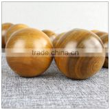 Health care Ball shape carving ornament hand massager wood craft ,camphor wooden material