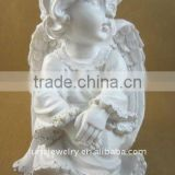 White color christmas angel, resin angel statue,little angel statues