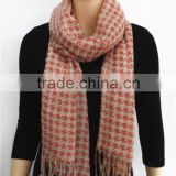 Acrylic Houndstooth Printed Scarf
