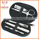 Wholesale 5 Piece Leather Look Manicure Set Nail Clipper With Zippered Pouch Chinese Supplier